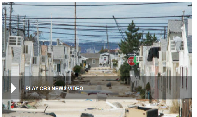 Long Beach Island after the Hurricane Sandy
